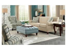 Craftmaster Sofa In Emotion Beige by Craftmaster Accent Ottomans Extra Large Tufted Ottoman With Bun