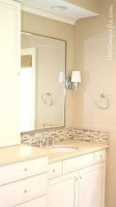 Tiles For Backsplash In Bathroom by Updating A Vanity With A Custom Tile Backsplash The Kim Six Fix