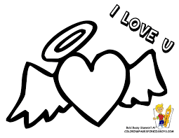 Printable Of Valentine Heart With Wings At YesColoring Coloring Pages Boy Cupid