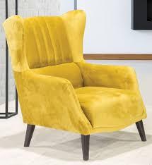 casa padrino luxus ohrensessel gelb schwarz 80 x 80 x h 90 cm moderner wohnzimmer sessel wohnzimmer möbel
