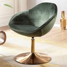 wohnling loungesessel sarin samt grün gold 70x79x70 cm design drehstuhl clubsessel polsterstuhl