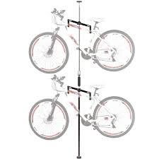 Ceiling Bike Rack Flat 2 bike vertical tension bicycle storage stand discount ramps