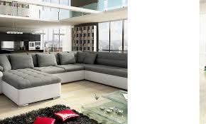 canapé panoramique tissu canapé d angle hcommehome miramas pu blanc tissu gris acheter