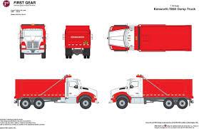 100 Red Dump Truck Buffalo Road Imports Kenworth T880 Redsilver TRUCK DUMP