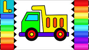 How To Draw And Color Dump Truck \\\ Printable Coloring Pages ... How To Draw Dump Truck Coloring Pages Kids Learn Colors For With To A Art For Hub Trucks Boys Make A Cake Hand Illustration Royalty Free Cliparts Vectors Printable Haulware Operations Drawing Download Clip And Color Page Online