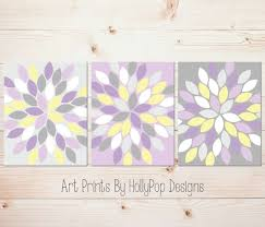 Purple Yellow Gray Wall Art Bedroom Bathroom With And Grey