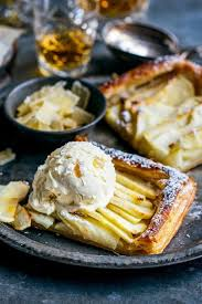 Rustic Apple Tart With Whiskey Ginger Ice Cream