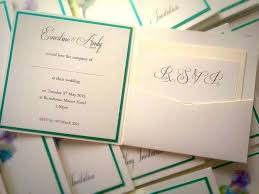 Handmade Pocketfold Wedding Invitation
