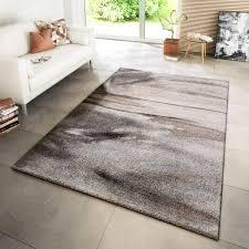teppich modern wohnzimmer meliert grau