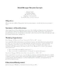 Profile Resume Template Example On