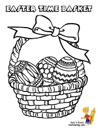 Easter Baskets Printable At Yescoloring Basket Coloring Page