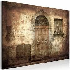 details zu leinwandbild tür retro vintage bilder kunstdruck wandbilder wohnzimmer