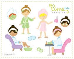 Spa Girls Clip Art