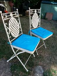 Pair Of Shabby Chic Metal Folding Bistro Chairs | In Colchester, Essex |  Gumtree Pair Set Of Two Folding Garden Outdoor Chairs Painted Shabby Chic Wooden Solid Wood Blue Grey In Mottram Manchester Gumtree Vintage Frostbrand Weathered Bluebirds And Roses Stool By 1970s Ding Table 3 Pieces Thrift Shop Childs Metal Chair Christmas Pine Peter Corvallis Productions Doll Size High Chair Shabby Chic Bistro Metal Garden Folding Patio Table White Banquet Buy Chairwhite Wedding Chairsbanquet Hall Product On Alibacom A Of Cute Sold Labyrinth Tasures