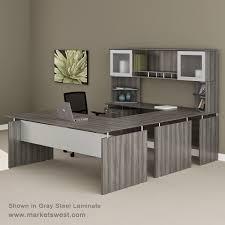 Bush Desk Series C by Medina Series Straight Front Executive U Shaped Desk Suite 40