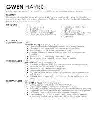 Fast Food Resume Example Manager Sample Server Examples