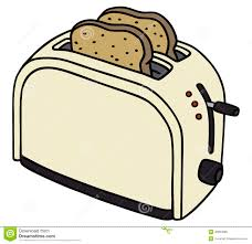 Hand Drawing Of A Electric Toaster
