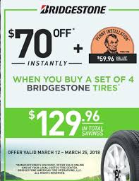 70 Off 4 Bridgestone Tires + 1 Cent Installation Per Tire (A $59 ... Bfgoodrich Allterrain Ta Ko2 Tires Bfg All Terrain Skin Costco Whosale On A Small Trailer For American Truck Simulator Opening Hours 150 Kingston Rd E Ajax On Greenball Spartacus Atv Tire To Offer Special Deal Premium Chevy Silverados Goodyear Wrangler Sra Tires Reviews With At D2 Sr A Lt305 60r20 Center 20 1755 Hacienda Dr Vista Shop Just Cemented Its Status As Americas New Favourite Place New 2018 Northrock Xc00 Fat Bicycle 299 Vs My 2017 Auto News Of Car Release 70 Off Set 4 Bridgestone 1 Tire Installation