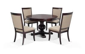Gatsby Round Cherry 5 Piece Dining Set With Side Chairs | Bobs.com How To Create A Transitional Ding Room Fratantoni Liftyles Transitional Ding Room Set Inc Table With Leaf 4 Side Chairs 2 Intrigue Round Glass Top Table Chairs White 50 Awesome Vintage Living Fniture In Of America Giselle Rooms For 45 Ideas Photos Solid Wood And Set Intercon Balboa Park With Bench Sadlers Steve Silver Lawton Nine Piece Wayside