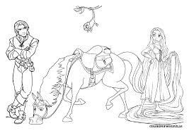 Disney Tangled Coloring Pages Printable 4
