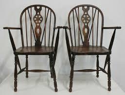 2x stühle holz alt esszimmerstühle wohnzimmer vintage shabby