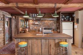 Rustic Kitchen With One Wall Slate Tile LIF Industries 36 In X