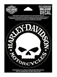 Harley Davidson Hubcap Skull Small Decal 4 W X