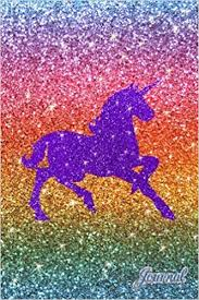 Journal Faux Rainbow Glitter Purple Sparkles Unicorn Notebook Brothergravydesigns 9781981283989 Amazon Books