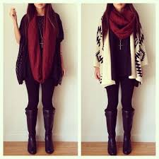 Chunky Burgundy Scarf Looks Fantastic With Many Outfits