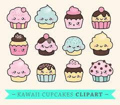 Premium Vector Clipart Kawaii Cup Cakes Cute Cupcakes Clipart Set High Quality Vectors