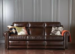 Ethan Allen Leather Furniture Care by Johnston Roll Arm Leather Incliner Sofa Sofas U0026 Loveseats
