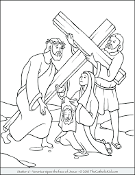 Lent Coloring Pages For Kindergarten Bible And Easter Stations Cross Veronica Wipes Face Full Size