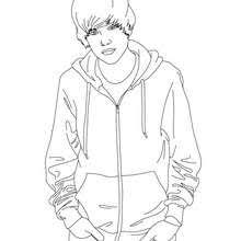 Justin Bieber Stand Up With Hands In The Pockets Coloring Page