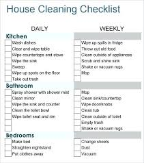 Apartment Cleaning Checklist Daily List Template Spring