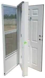 Vinyl Steel bination Door for Mobile Home w Knocker Viewer