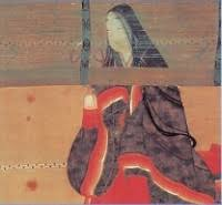 Sei Shōnagon in a late 17th century illustration The Pillow Book