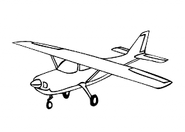 Simple Airplane Drawing Coloring Pages Airplanes Printable Kids Colouring
