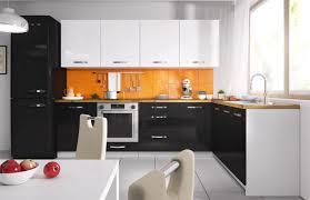l form küchenzeile essen trend küchenblock 303x180cm weiß front weiß schwarz acryl hochglanz