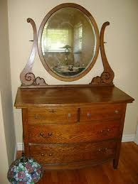 antique oak dresser with mirror beautiful mission style 1900 s