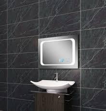 licht spiegel led beleuchtung uhr radio mp3 und touch