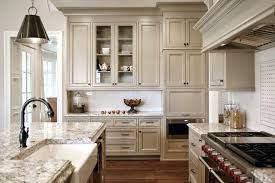 light kitchen cabinets with granite countertops brown
