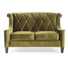 IKEA Green Velvet Couch Modern Loveseat
