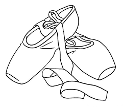 Ballet Shoes Colouring Pages