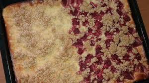 quark streusel kuchen mit himbeeren