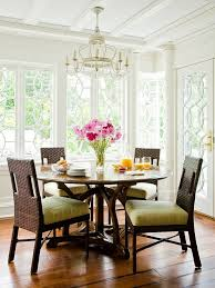 Natural Light Highlights The Details In This Breakfast Nook White Walls And Window Provide A Beautiful Backdrop For Dark Table Chairs