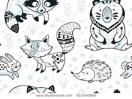 Printable Animal Coloring Pages Woodland Animals Wildlife Colouring Of Cute Ani