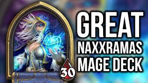 hearthstone legend mage deck curse of naxxramas youtube