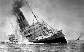 Where In Ireland Did The Lusitania Sink by May 7 1915 The Lusitania Sinks Killing Over 1 000 Civilians