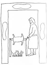 Passover Lamb Colouring Pages
