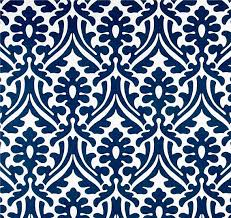 damask print navy blue outdoor fabric by the yard designer indoor